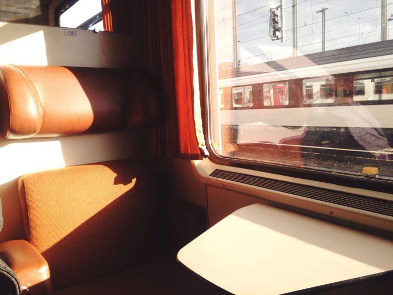 Empty seat on train